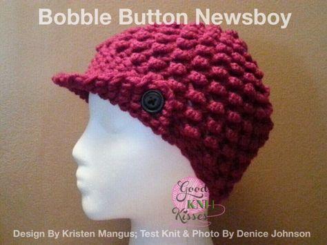 Loom Knit Newsboy Hat Pattern Easy