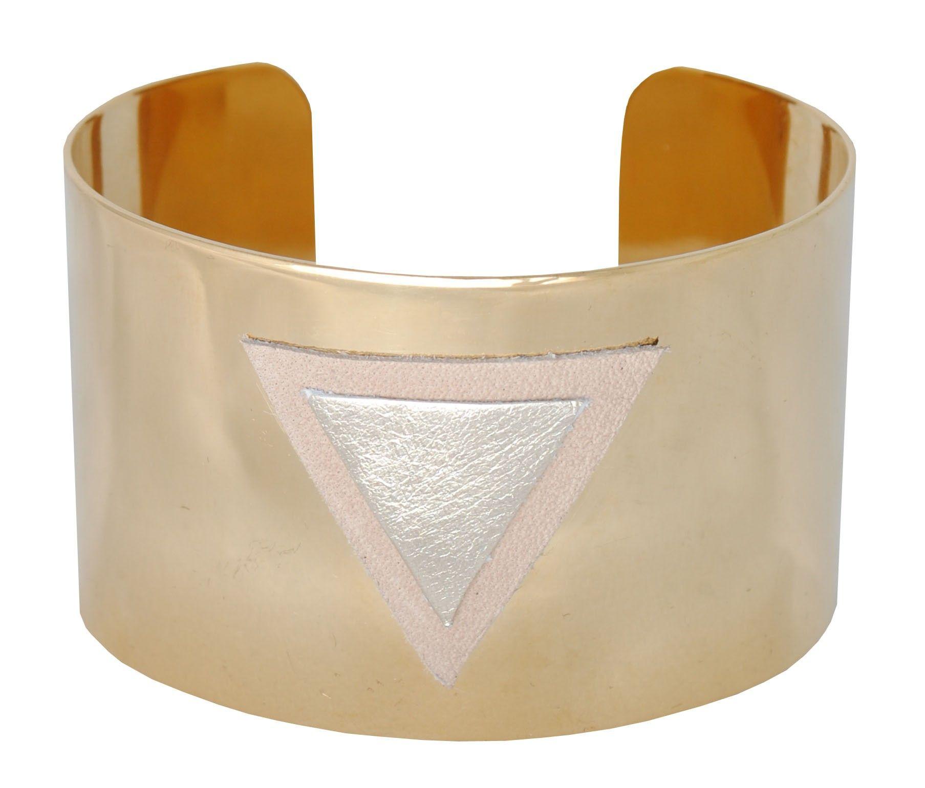 Bracelet Manchette Triangle En Cuir Choix Du Cuir Bracelet