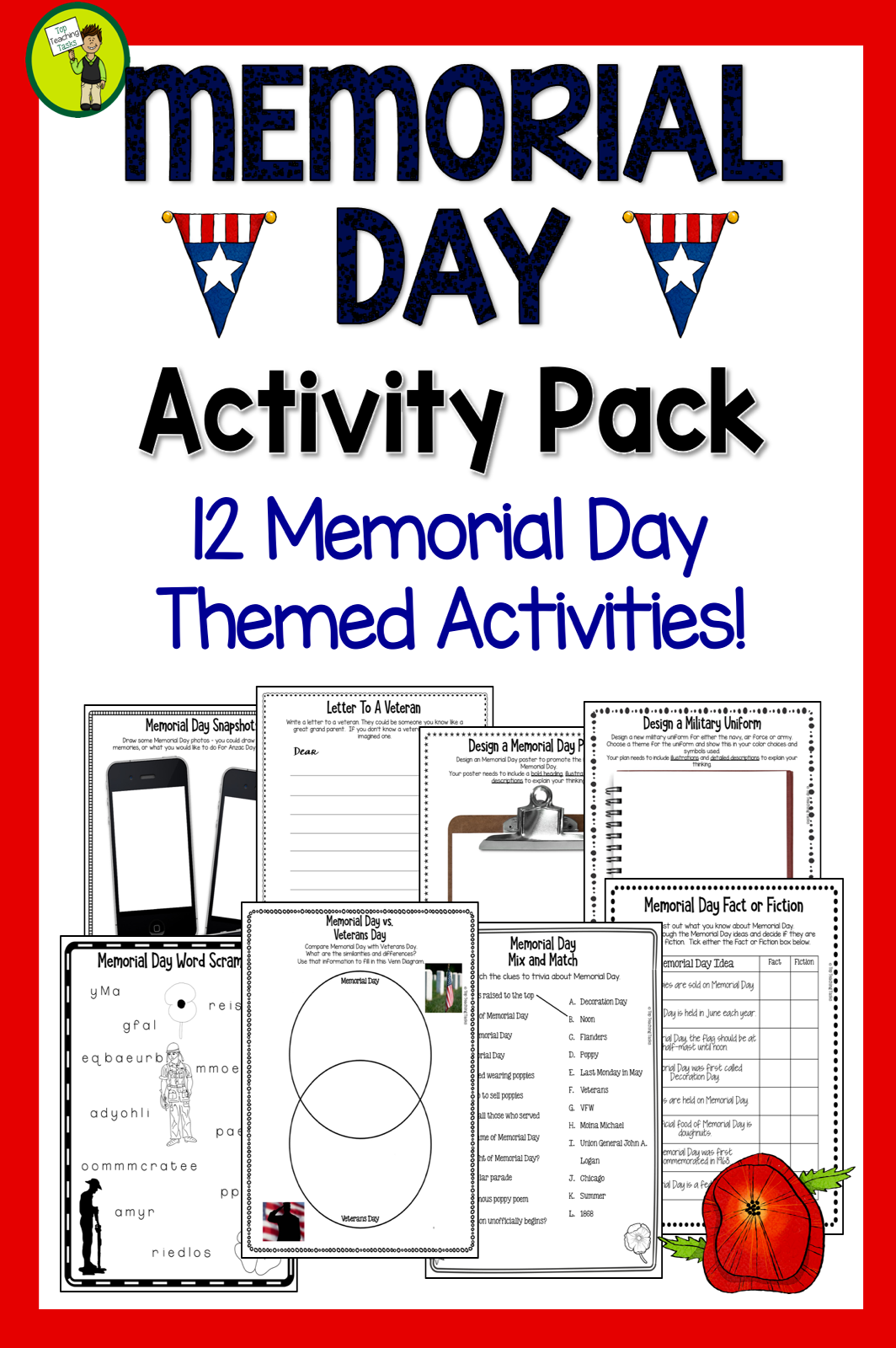 Memorial Day Activities Print And Go
