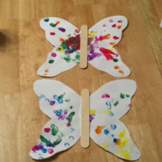 Finger paint butterfly