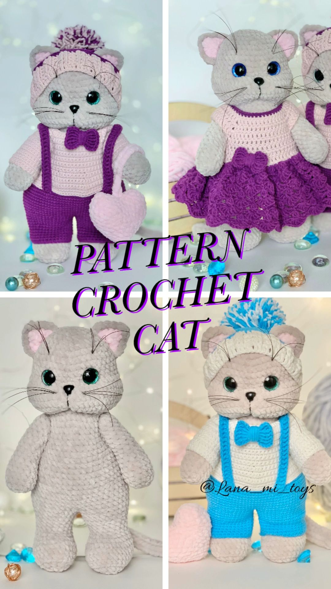 Photo of Pattern crochet cat amigurumi