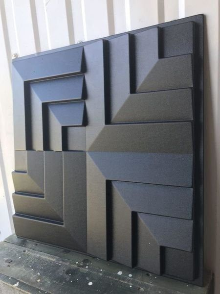 Plastic mold for gypsum and concrete 3D Panel Form for makin…