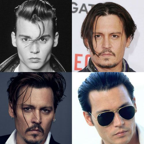 Johnny Depp Hairstyles - Johnny depp hairstyle, Johnny depp haircut, Short hair haircuts, Short hair styles, Mens hairstyles, Johnny depp style - Johnny Depp's hairstyles are as iconic and famous as the actor himself  Known as one of the most talented actors of his generation, Depp's hair catapulted the Hollywood superstar into becoming an international fashion icon  In fact, Depp's long hair in movies like Blow and his short hair in flicks such as Public Enemies certainly influenced men's lifestyle …