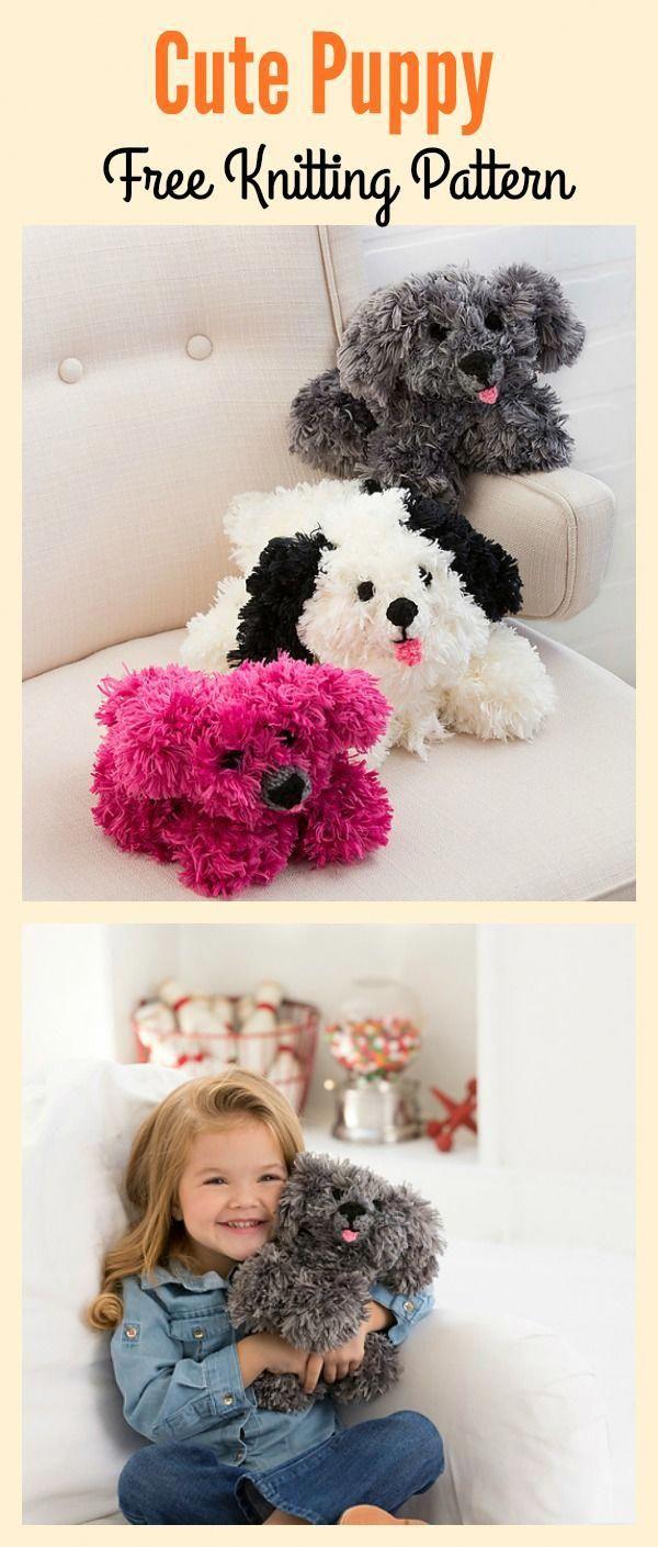 Cute Puppy Free Knitting Pattern Freepattern Knitting Toy Dog