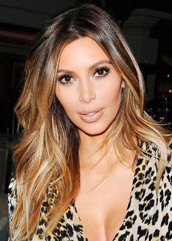 Couleur cheveux kim kardashian 2016
