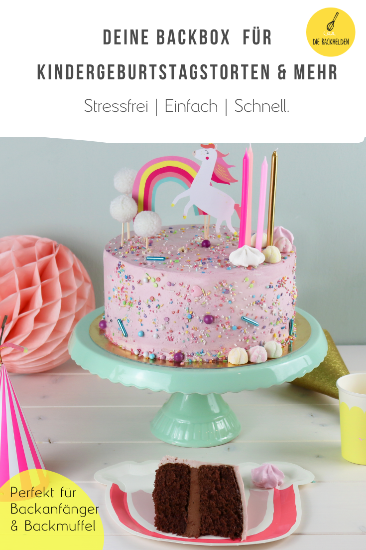 Einhorn Torte Deine Backbox In 2020 Kindergeburtstagstorte Backen Dessert Ideen