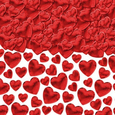 red hearts confetti 2 12oz party city - Party City Valentine Decorations