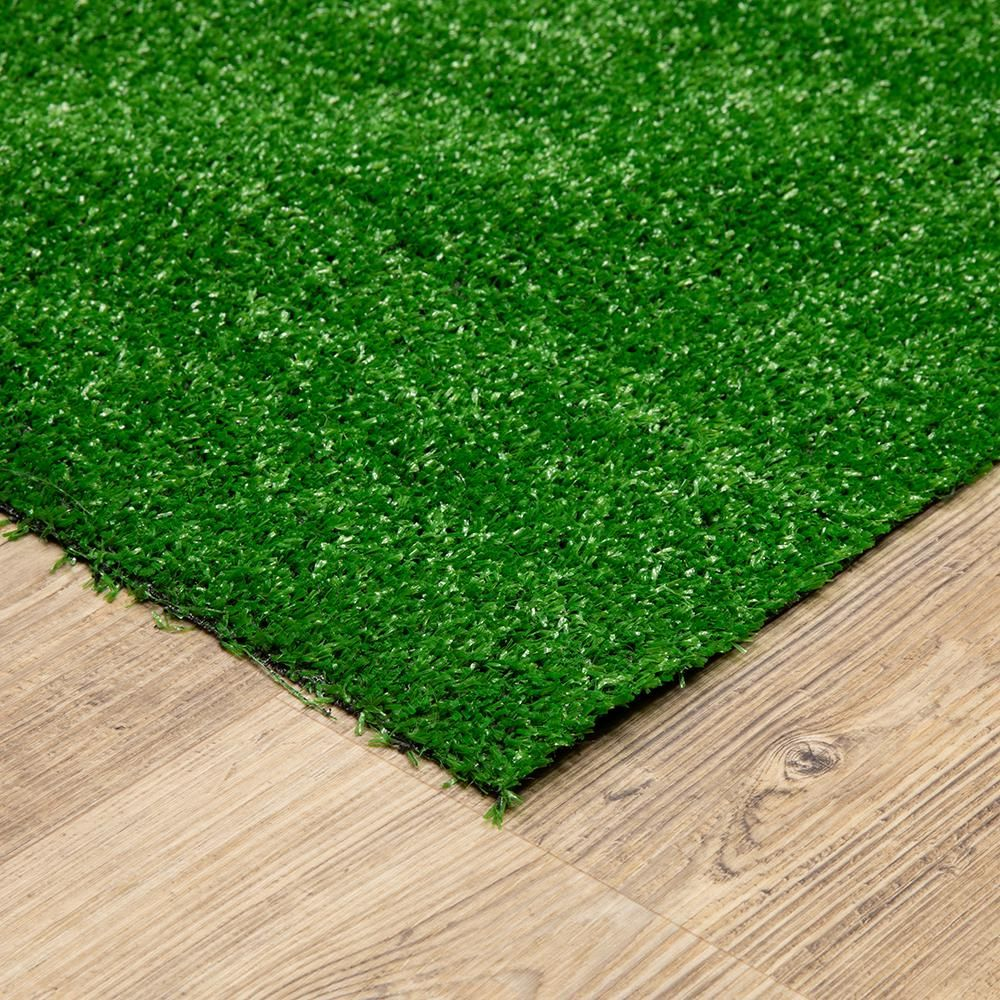 Create A Natural Grass Like Look To Your Home Decor With The Selection Of This Trafficmaster Artificial Grass Rug In 2020 Grass Rug Artificial Grass Rug Grass Carpet