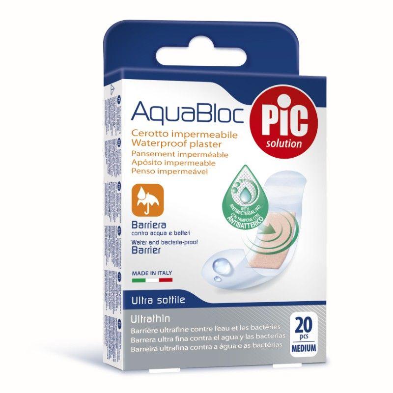 بلاستر ضد البكتريا أقصى قدر من الحماية ضد الماء والبكتيريا شفاف ضد الماء متوسط 20 قطعة Solutions Pics Shopping