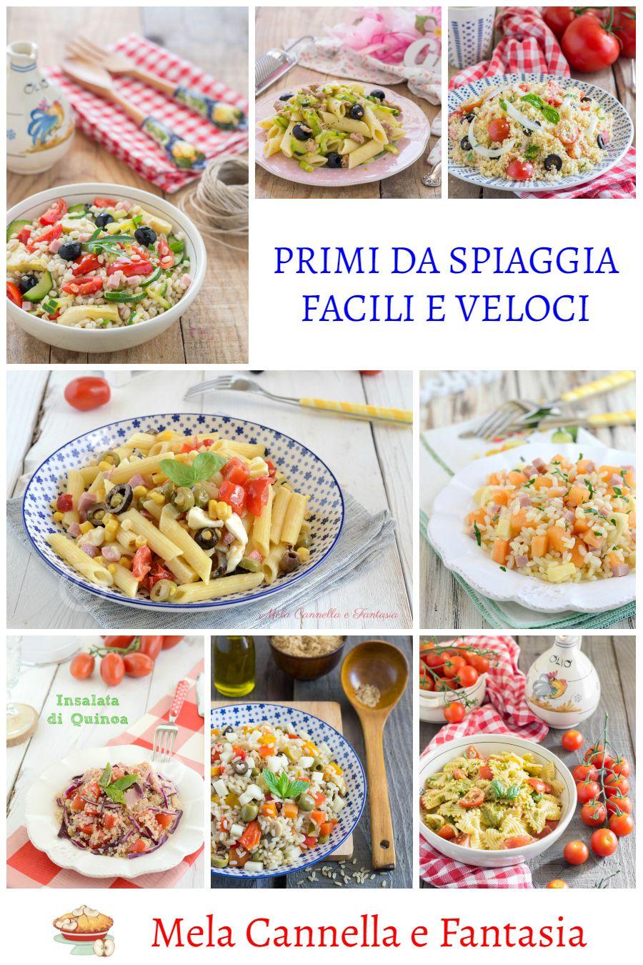 Primi Da Spiaggia Raccolta Primi Piatti Facili E Veloci Ricette Ricette Di Cucina Pasti Italiani