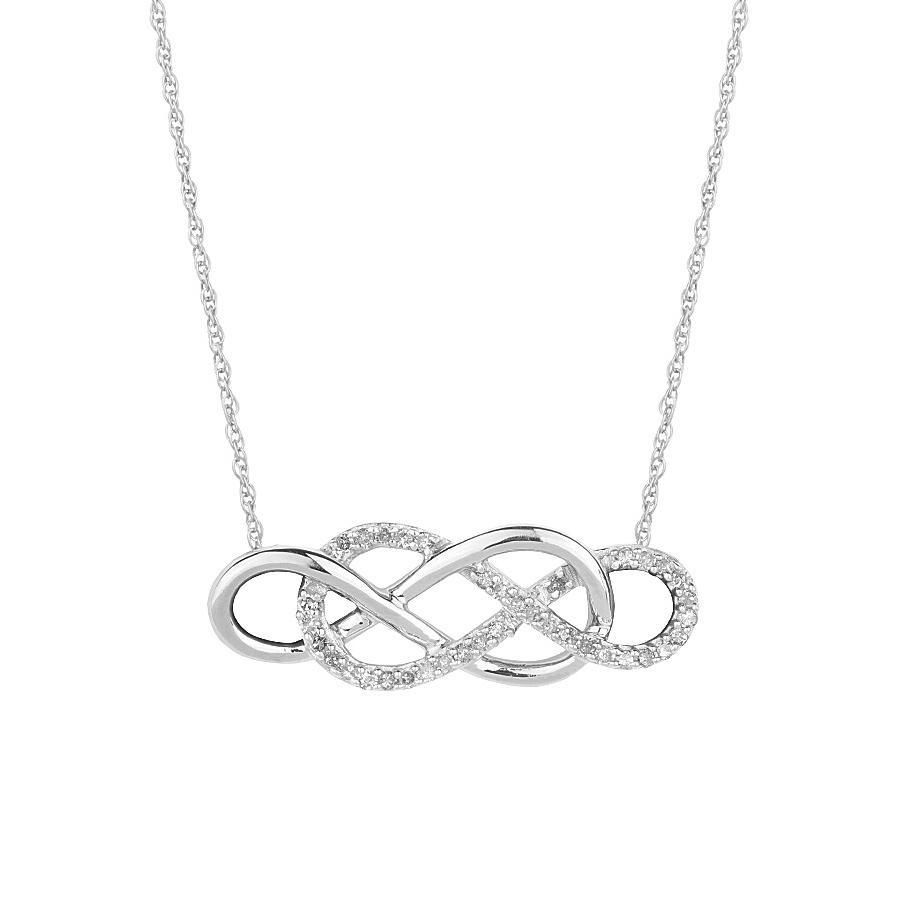 Diamond double infinity necklace 16ctw kszerek pinterest diamond necklace for girlfriend biocorpaavc Image collections