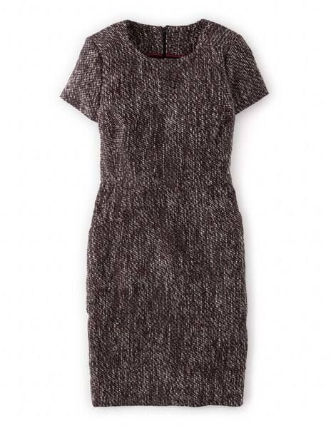 Chic Tweed Shift WH704 Work at Boden in Navy