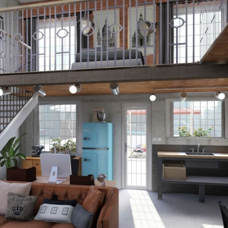 Today Homestyler Wants To Share With You This Work Of Small Loft