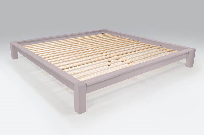lit king size 200 x 200 cm bois en 2018 chambre adulte. Black Bedroom Furniture Sets. Home Design Ideas