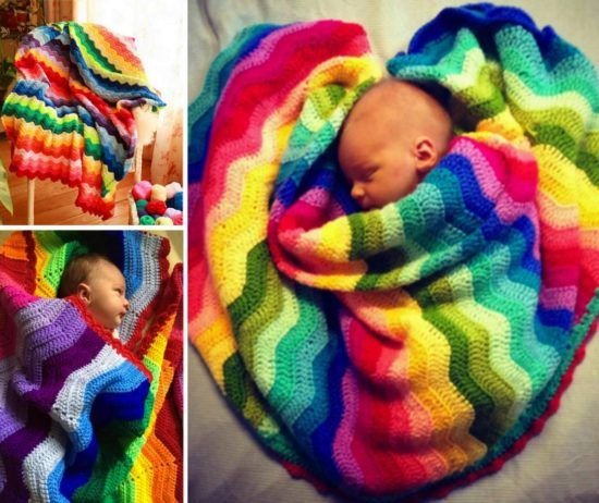 Rainbow Ripple Crochet Blanket Pattern Is A Stunner | Babymobile ...