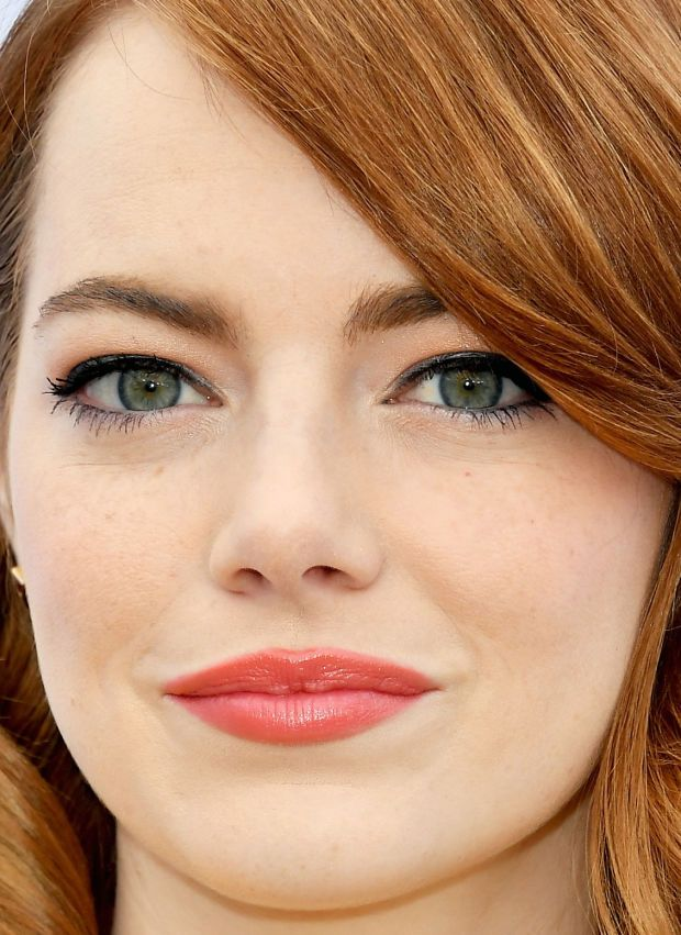 Close-up of Emma Stone at The Hollywood Reporter's 2016 Women in Entertainment Breakfast.