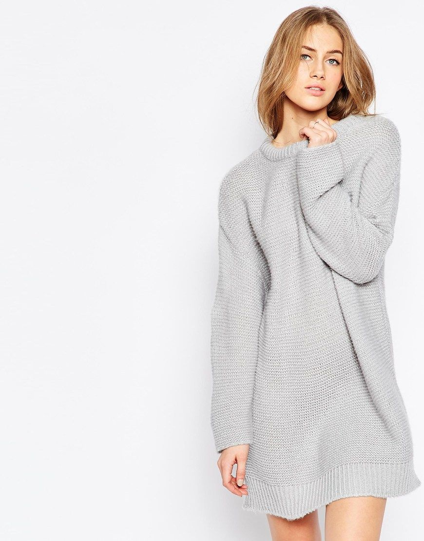 Image 1 of ASOS Oversized Jumper Dress In Chunky Knit | Mode ...