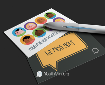 youth ministry postcard