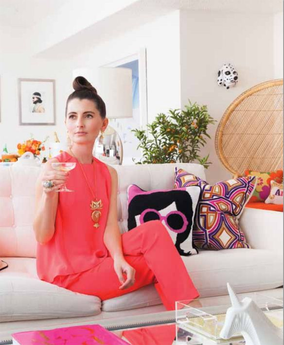 kelly lee of kelly golightly in darling magazine; how to style your space for spring