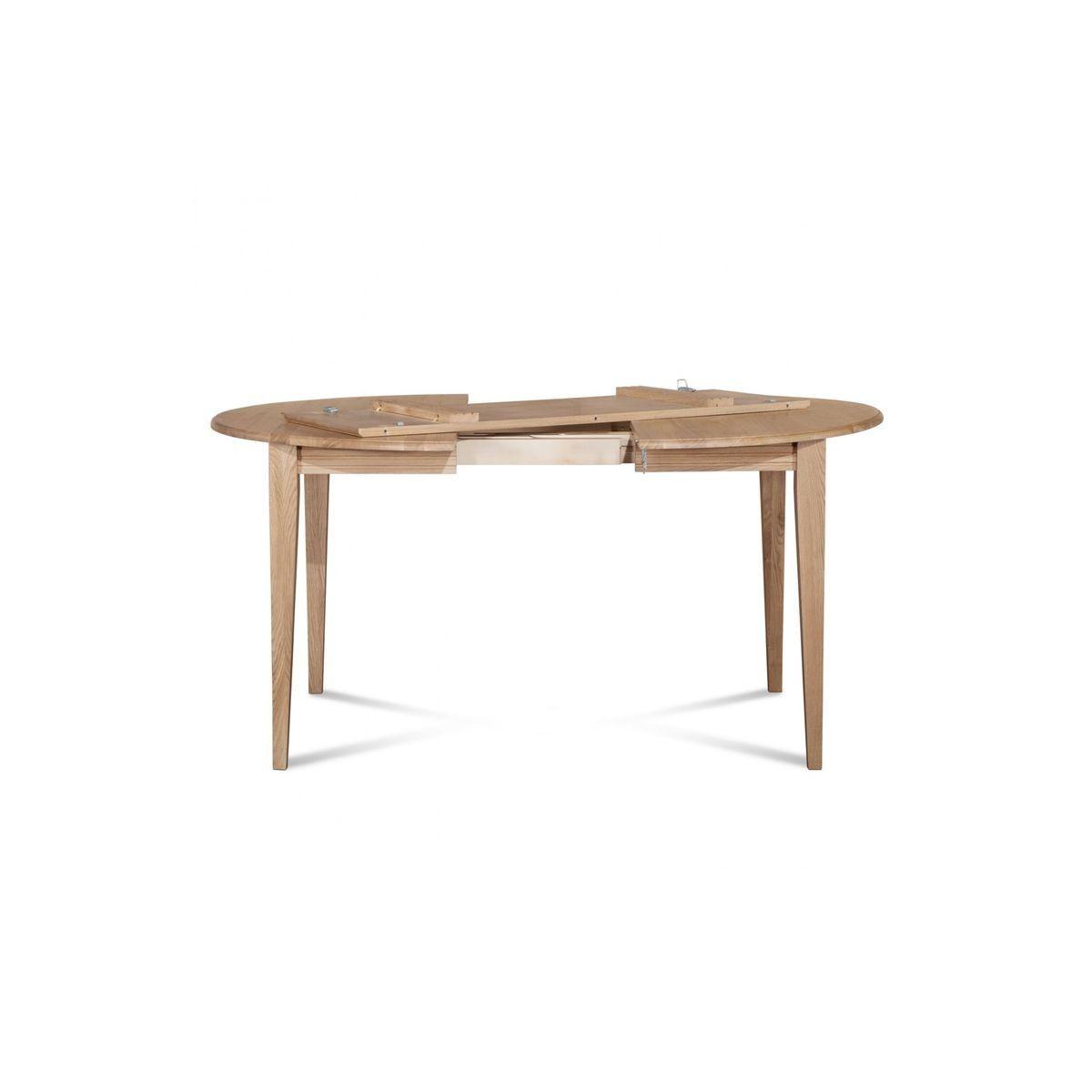 Cm Table Bois À Extensible Pieds Fuseau Ronde 105 Rallonges WEBxeQrdCo