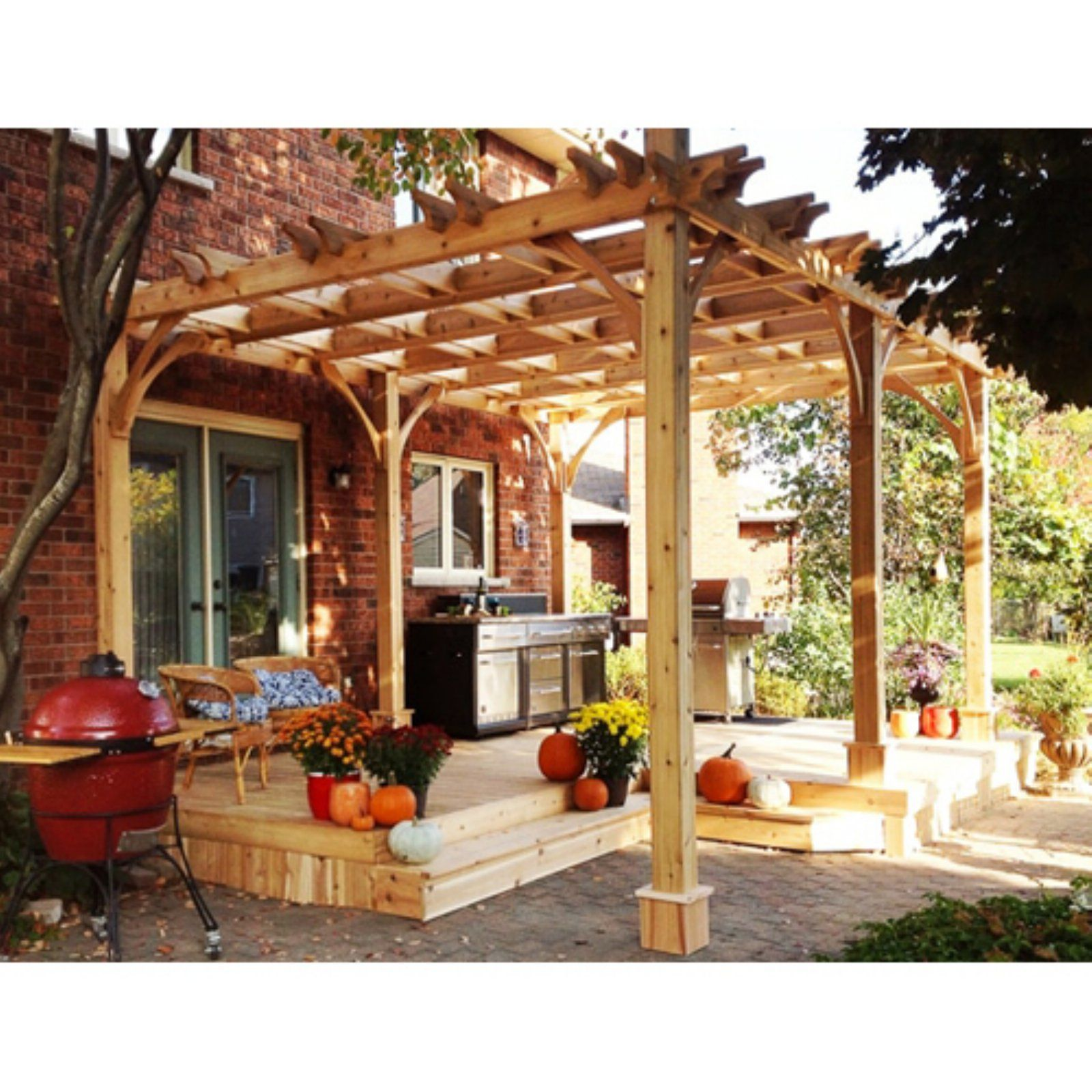 Outdoor Living Today Breeze 10 X 16 Ft Pergola Pergola Patio Outdoor Pergola Pergola Plans