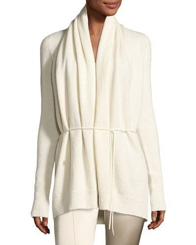 B3T6H THE ROW Sarene Cashmere Tie-Waist Cardigan, Ivory   Fashion ...