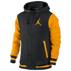 Jordan Varsity Hoodie - Men s - Basketball - Clothing - Black University  Gold a93b312949f2