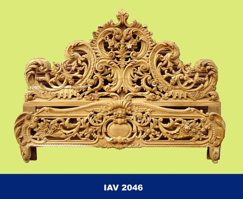 Hand Carved Bed: Hand Carved Panel Storage Teak Wood Wooden Traditional Bed