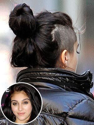 Half Shaved Head Hairstyle Madona's Daughter Shaved Head  Hair Epicness  Pinterest  Shaved