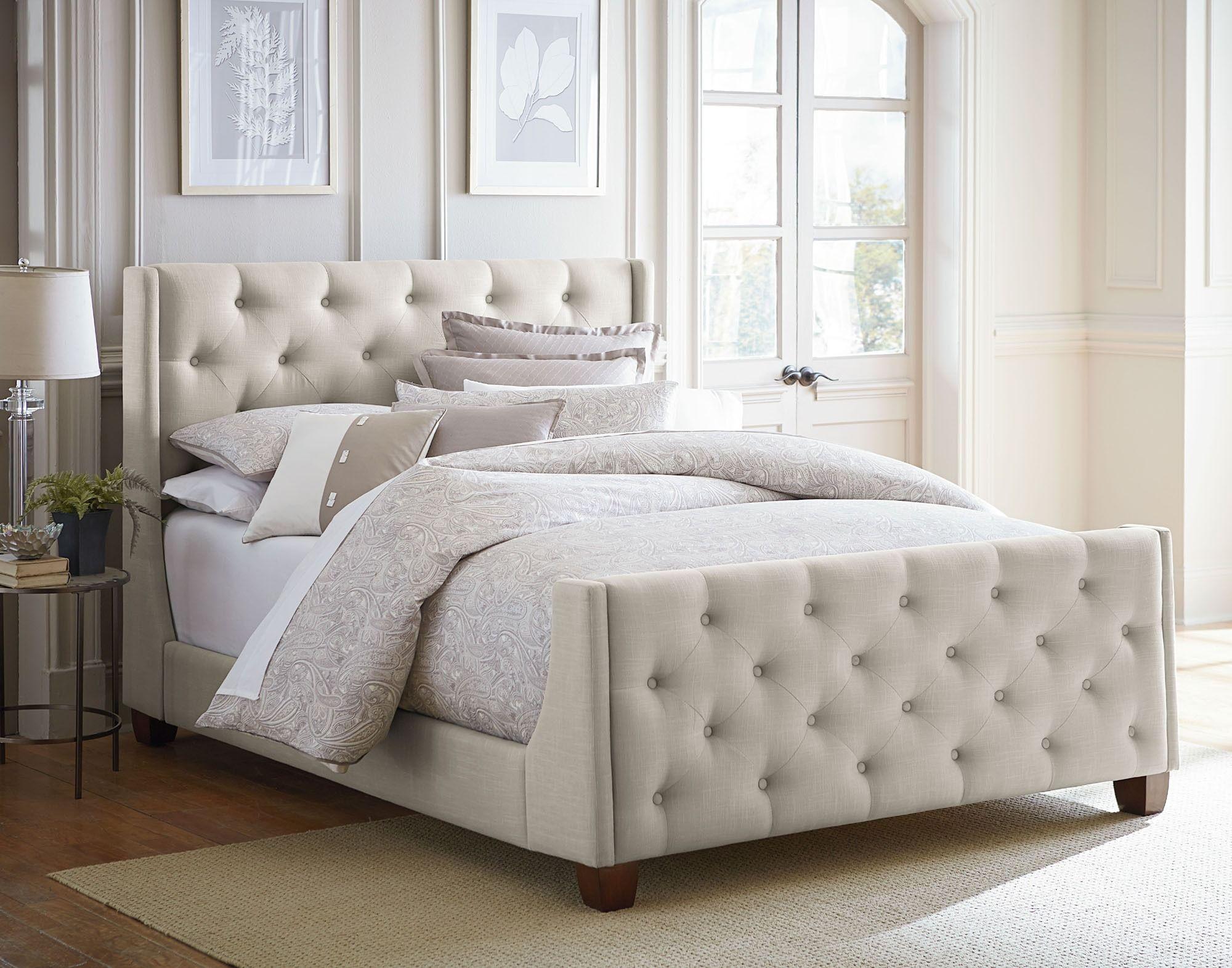Best Carmen Queen Upholstered Bed Gray Standard Furniture 640 x 480