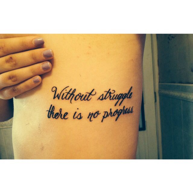 #motivation #quotes #tattoo #ribtattoo #script #struggle