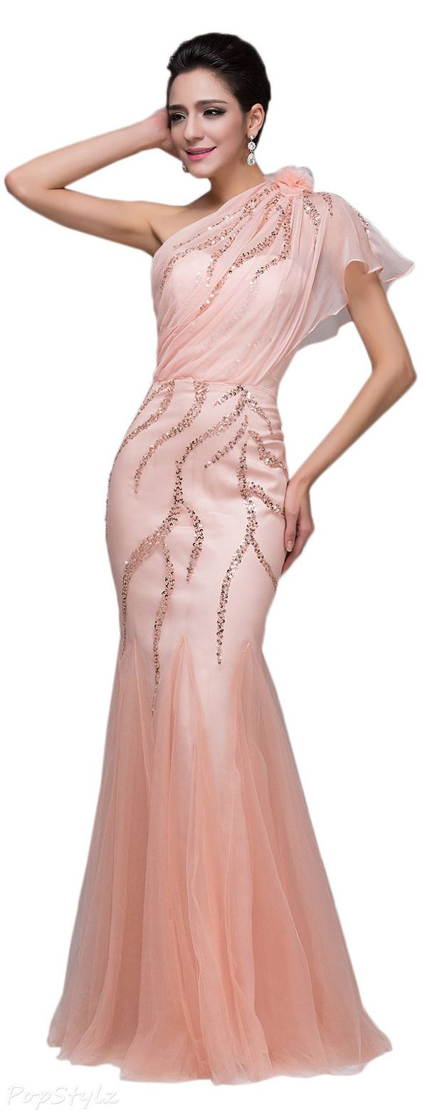 Sunvary Fancy Sheath Tulle Mermaid Sequin Gown | HAUTE COUTURE ...