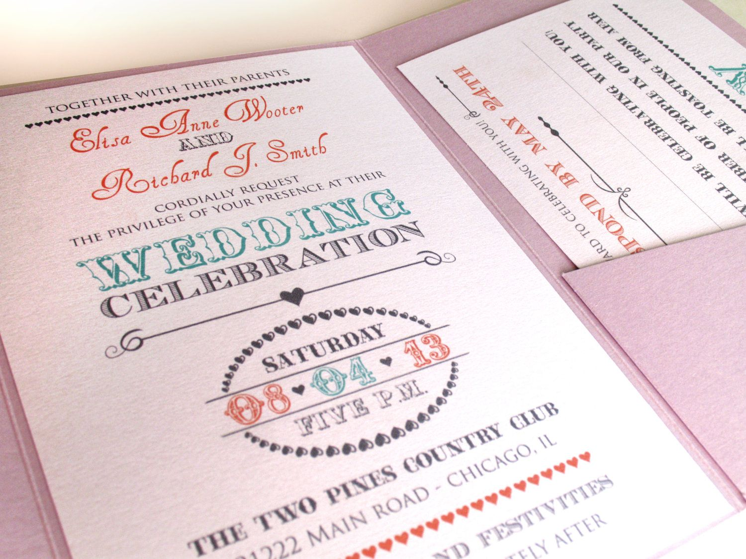 Shabby Chic Wedding Invitations Pastel Elegance By ABandIG, $2.00