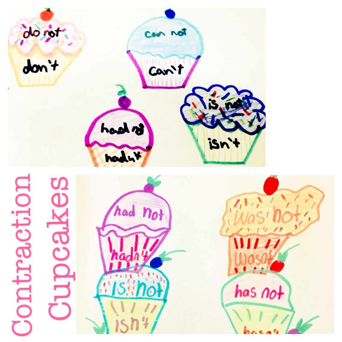 Check Out These Contraction Cupcakes Which Are Great For