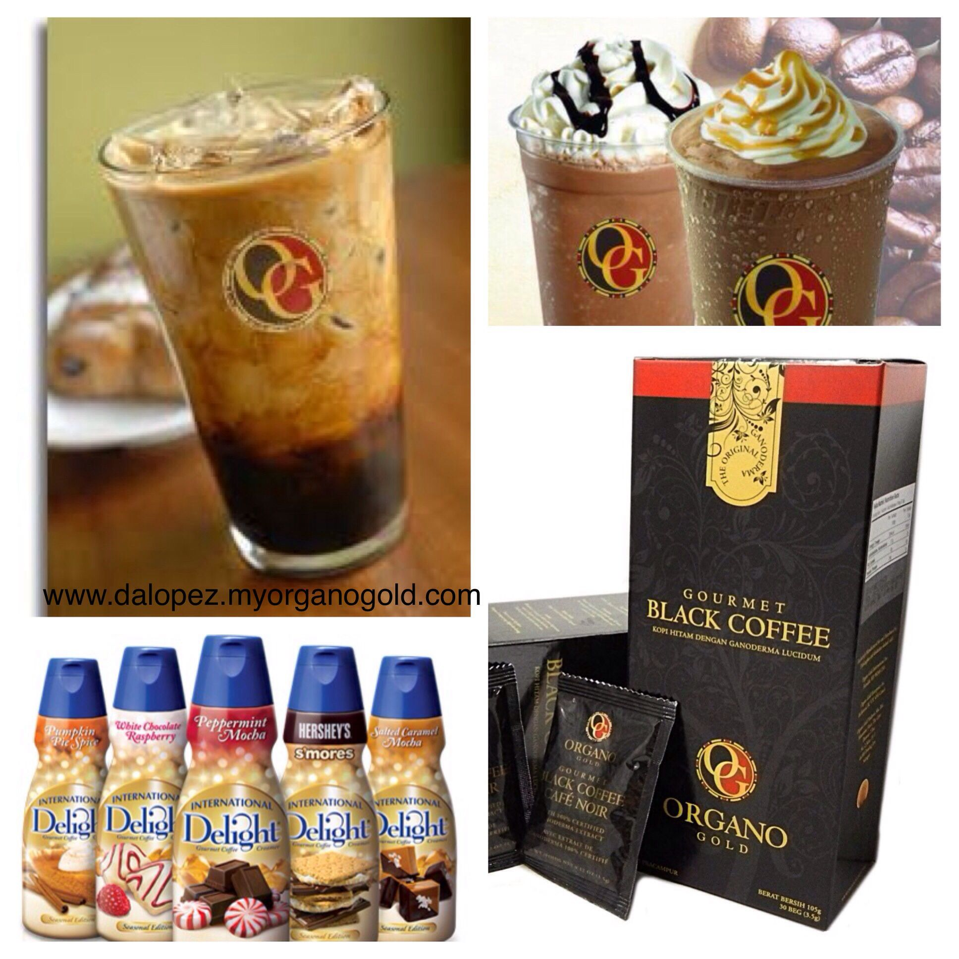 Iced coffee 1 packet of og black coffee in 12 oz glass