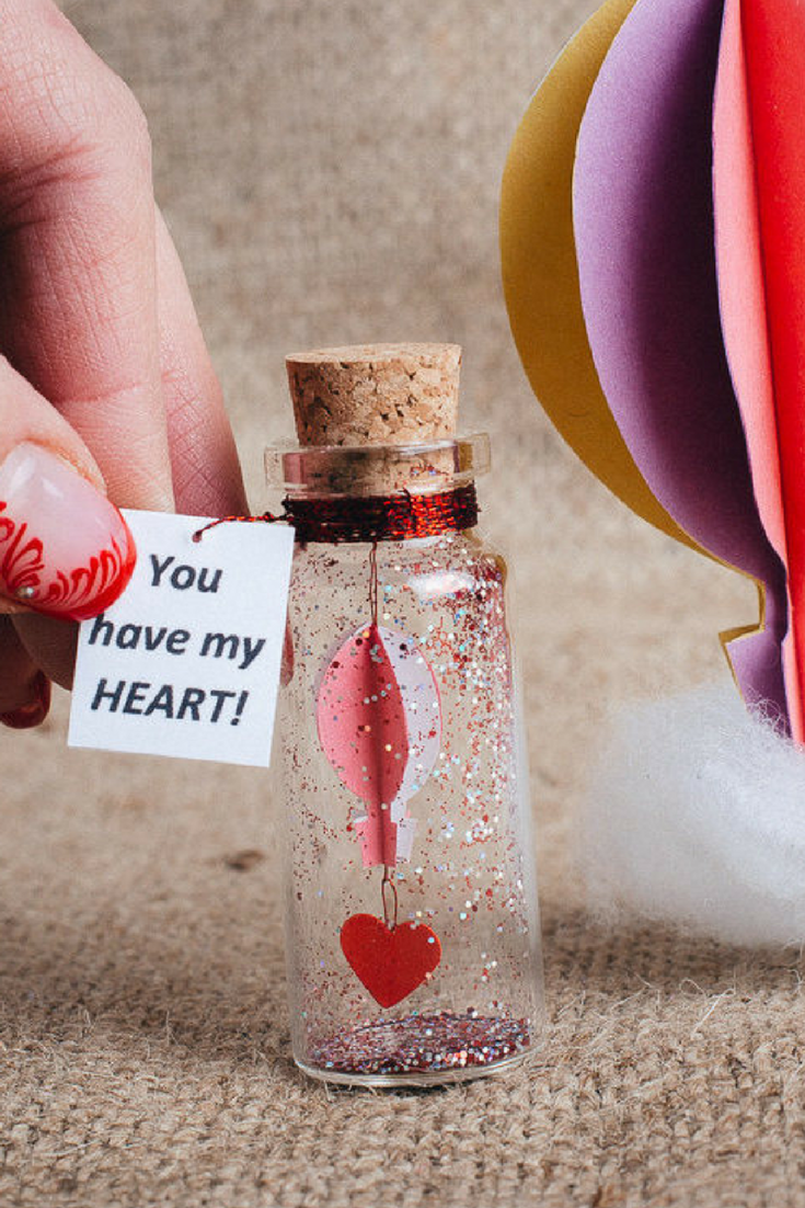 Gift For Girlfriend Origami Hot Air Balloon Message In A Bottle Boyfriend Ideas Miniature