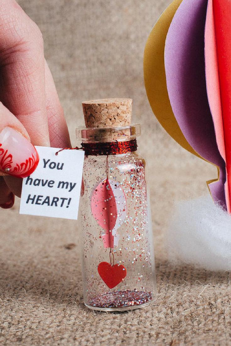 Gift For Girlfriend Origami Hot Air Balloon Message In A Bottle Boyfriend Ideas Miniature