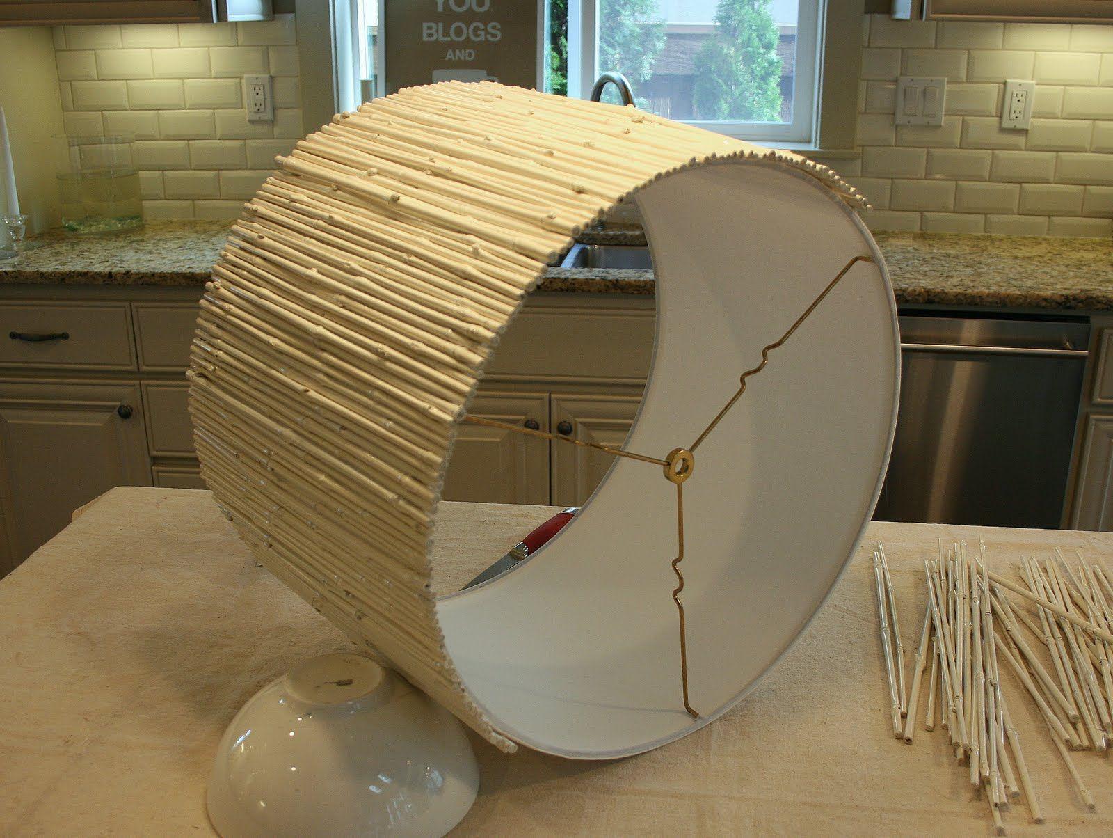 diy bamboo craft projects | DIY Bamboo Lamp Shade.....love ...