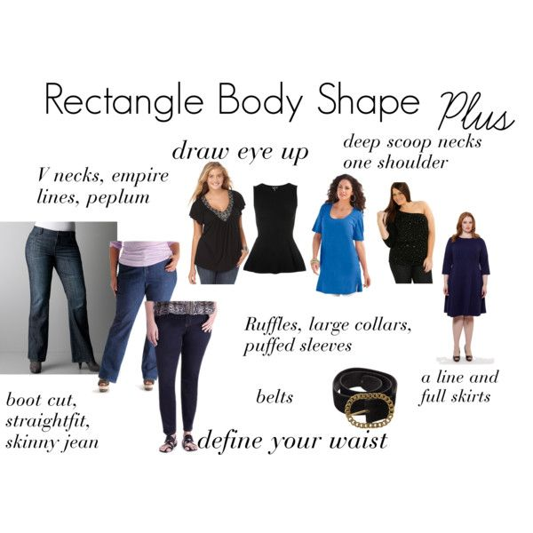 Rectangle Body Shape | Body shapes, Plus size body shapes ...