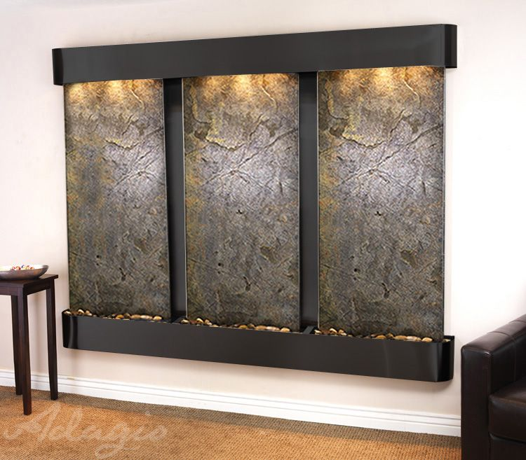 An indoor water wall for the home and radiates elegance - Indoor wall water features ...