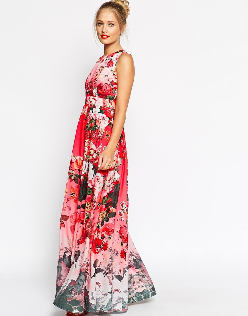ASOS Fading Floral Print Maxi Dress | My Style | Pinterest ...