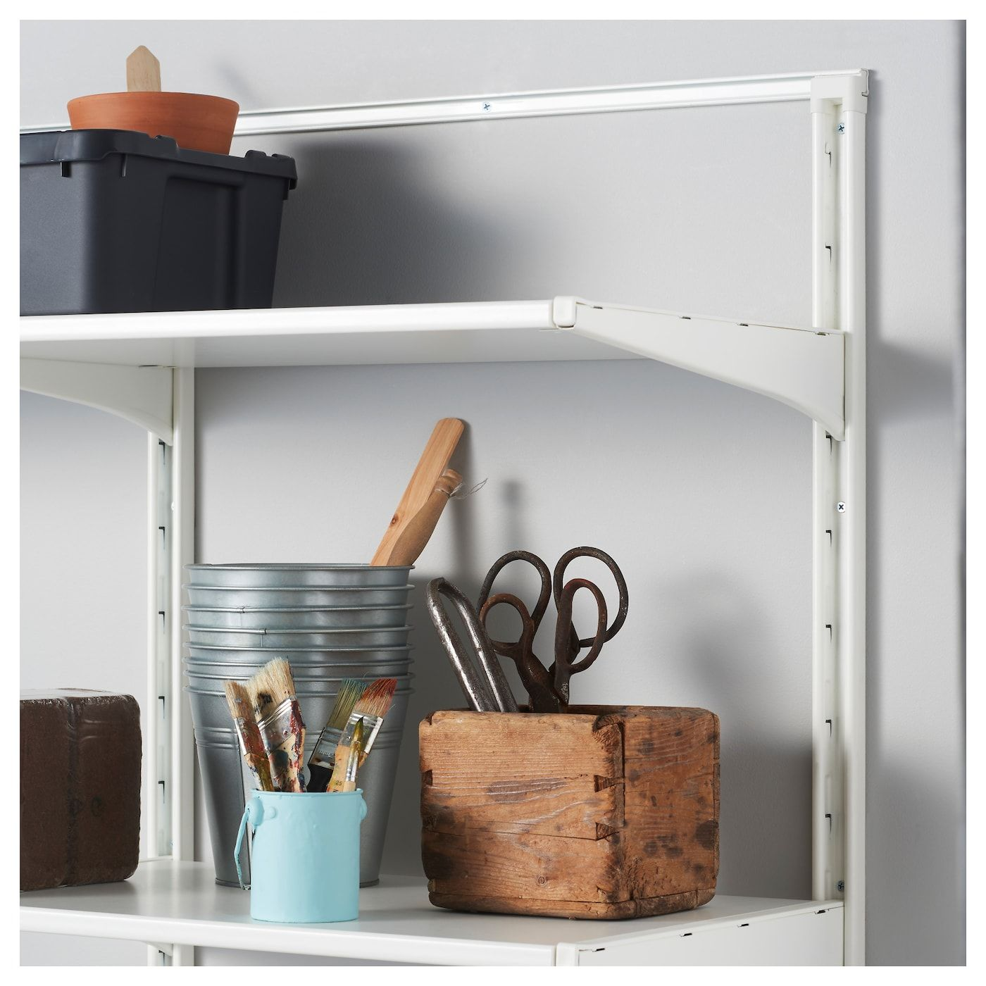 "ALGOT Wall upright white 77 1/8 "" (196 cm) Ikea algot"