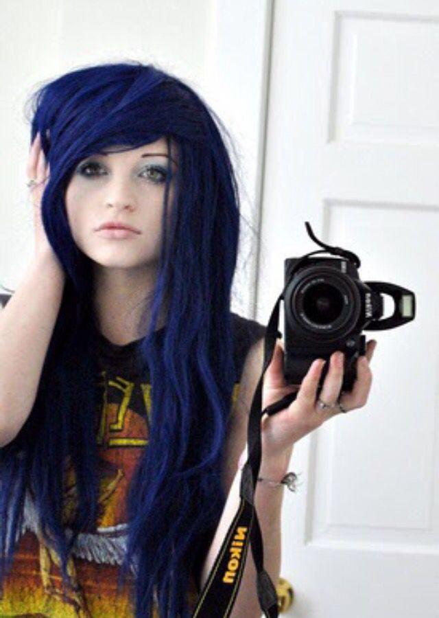 Blue Splat Midnight Indigo Hair Color