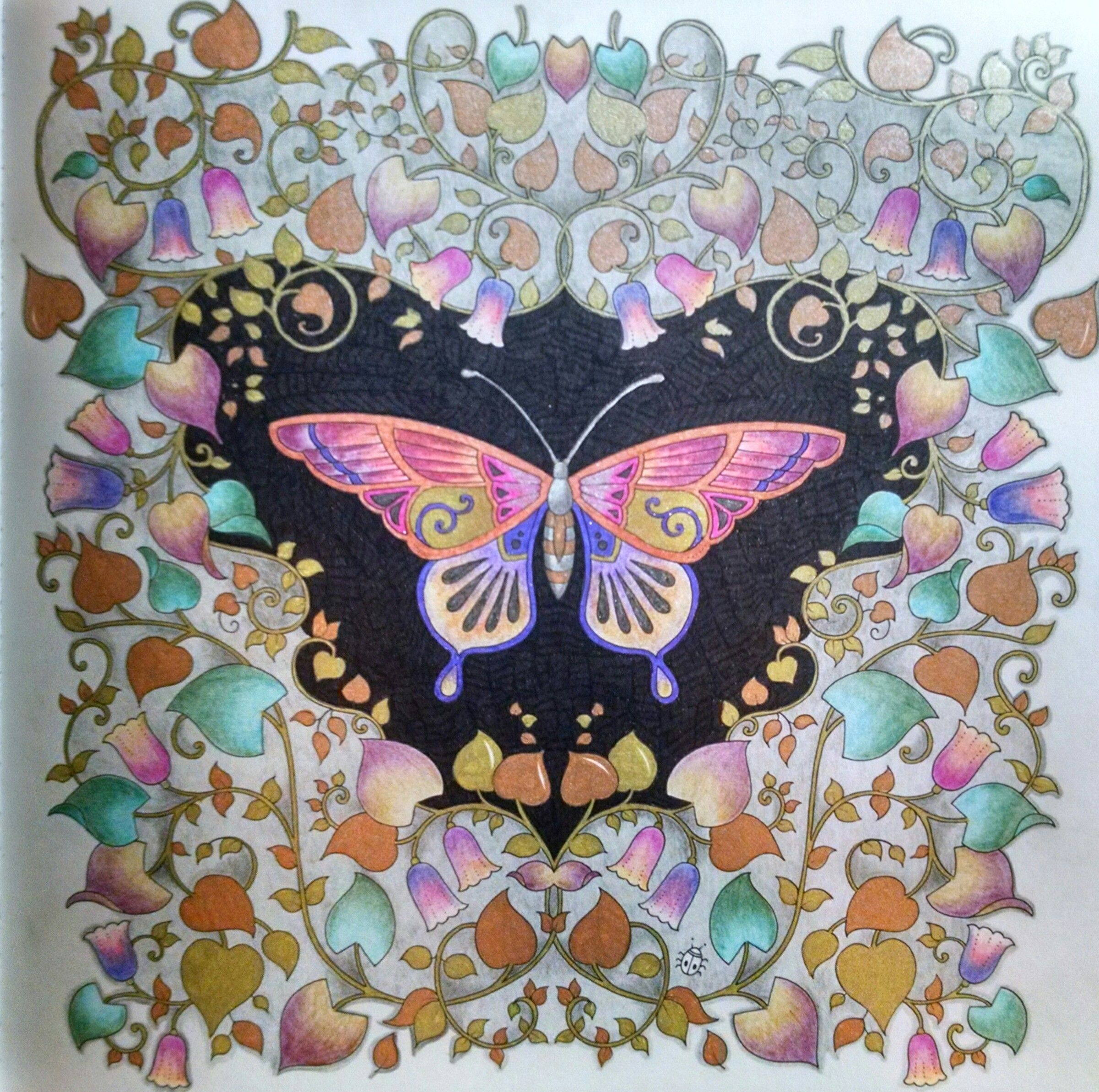 Magical Jungle Butterfly By Wendy Johanna Basford Coloring Basford Coloring Johanna Basford Coloring Book