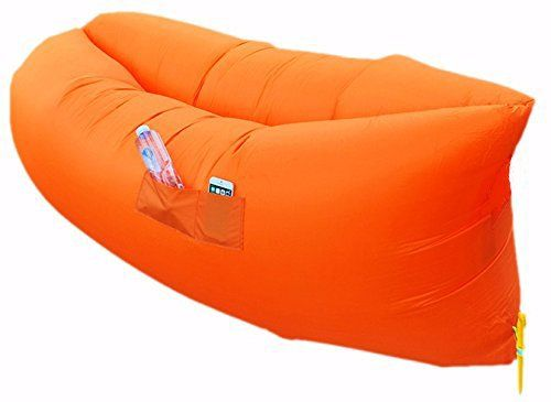 Air Lounger Parachute Material Made With Heavy Duty Waterproof Blow Up Couch Sofa Suitable For Up To 2 Person Leather Couch Sectional Air Lounger Air Lounge