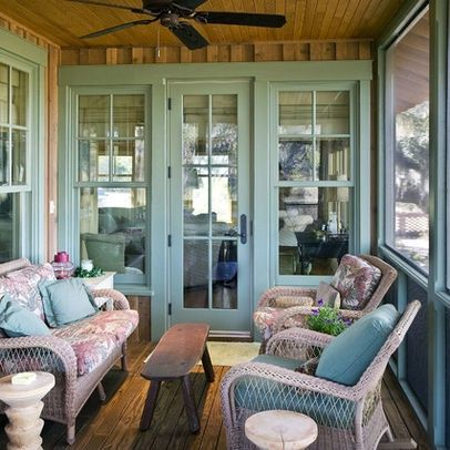 Enclosed porch ideas enclosed back porch design ideas for Kitchen with sunroom attached