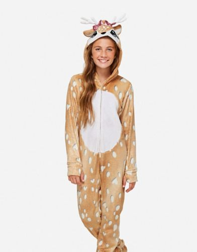 79d155acf573 SOLD OUT ONLINE AND IN STORES GET YOURS AT LAURA LAND AUCTIONS ON EBAY  JUSTICE REINDEER PAJAMAS ONE PIECE DEER PJ SLEEPER GIRLS 6 7 NWT  Justice   OnePiece