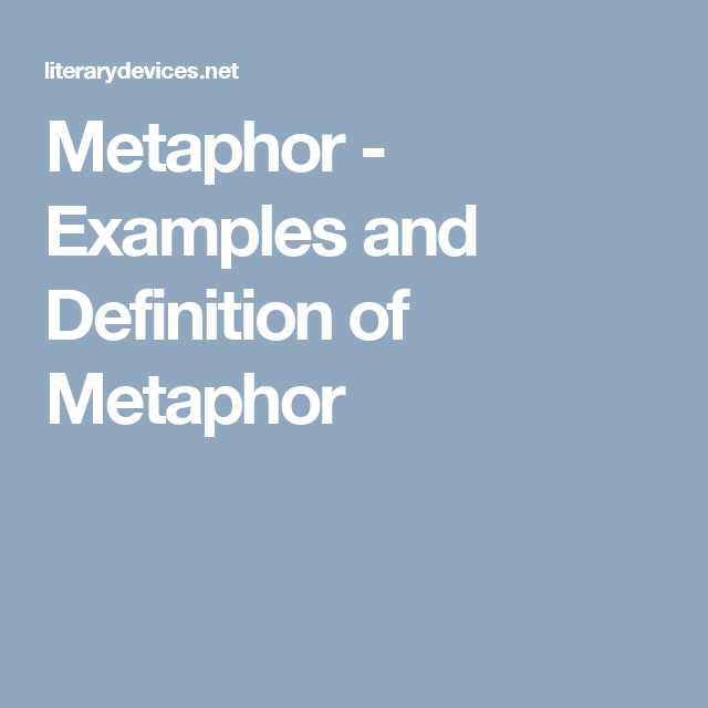 Metaphor Examples And Definition Of Metaphor Writing And