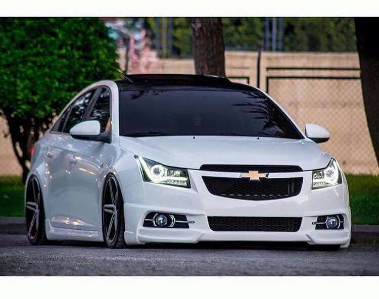 White dropped Cruze | Cruze help | Pinterest | Chevy cruze ...