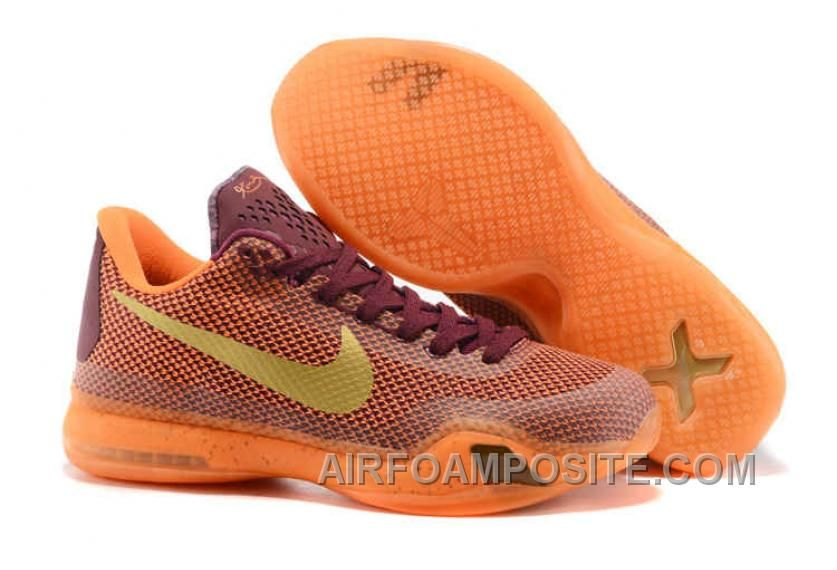 wholesale dealer 39848 a4b3e The cheap Authentic Kobe 10  Silk  Merlot Villain Red Total Orange Metallic  Gold Shoes factory store are awesome pair of shoes but it seems the super  high ...
